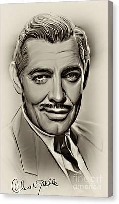 Clark Gable Canvas Print by Andrzej Szczerski