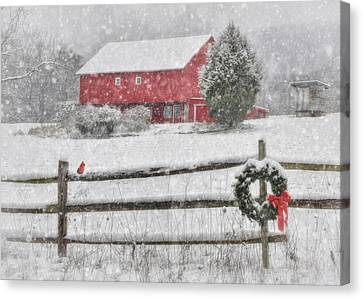Clarks Valley Christmas 2 Canvas Print by Lori Deiter