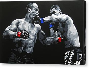 Clash Of The Titans Canvas Print by Geo Thomson