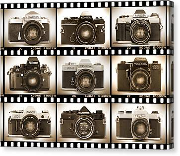 Classic 35mm S L R Cameras Canvas Print by Mike McGlothlen