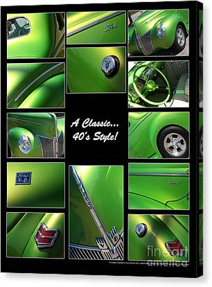 Classic 40s Style - Poster Canvas Print by Gary Gingrich Galleries