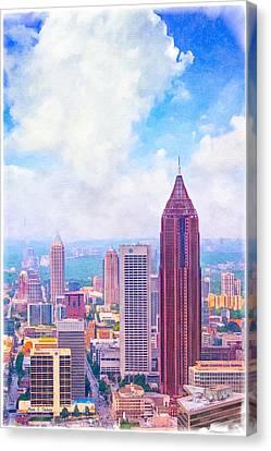 Classic Atlanta Midtown Skyline Canvas Print by Mark E Tisdale