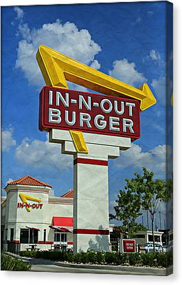 Classic Cali Burger 1.1 Canvas Print by Stephen Stookey