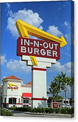 Classic Cali Burger Canvas Print by Stephen Stookey