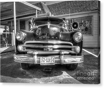 Classic Car Along Route 66 Canvas Print by Twenty Two North Photography