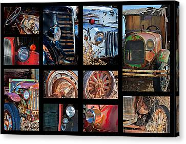 Classic Car Collage Canvas Print by Phyllis Denton