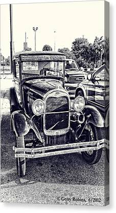 Classic Car Canvas Print by Gerry Robins