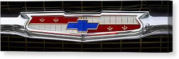 Classic Chevrolet Emblem Canvas Print by Mike McGlothlen