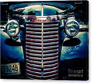 Classic Chrome Grill Canvas Print by Perry Webster