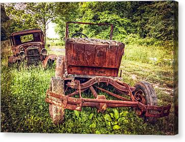 Classic Fords Canvas Print by Debra and Dave Vanderlaan