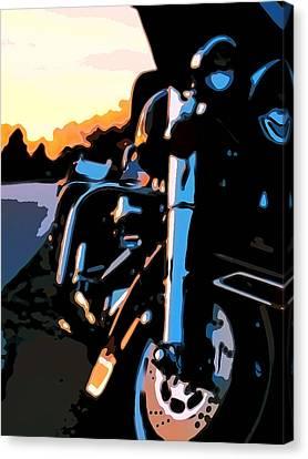 Classic Harley Canvas Print by Michael Pickett