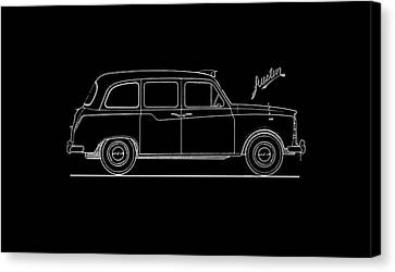 Classic London Taxi Phone Case Canvas Print by Mark Rogan
