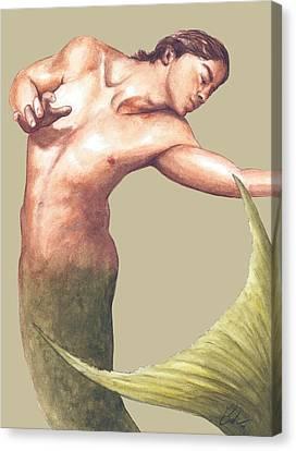 Classic Merman Canvas Print by Bruce Lennon