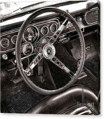 Classic Mustang Canvas Print by Olivier Le Queinec
