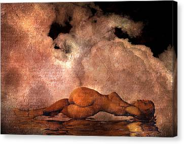 Classic Nude Canvas Print by Bruce Rolff