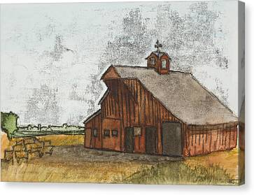 Classic Red Barn Canvas Print by Hailey Jackson