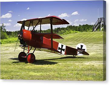 Classic Red Barron Fokker Dr.1 Triplane Photo Canvas Print by Keith Webber Jr