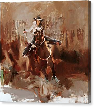 Classic Rodeo 1 Canvas Print by Maryam Mughal