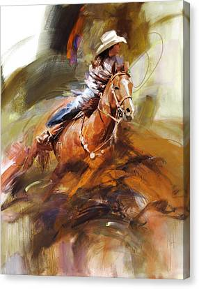 Classic Rodeo 6 Canvas Print by Maryam Mughal