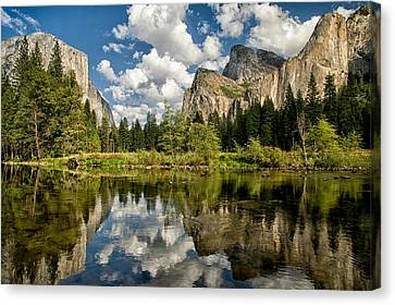 Classic Valley View Canvas Print by Cat Connor