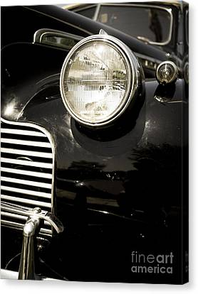 Classic Vintage Car Black And White Canvas Print by Edward Fielding