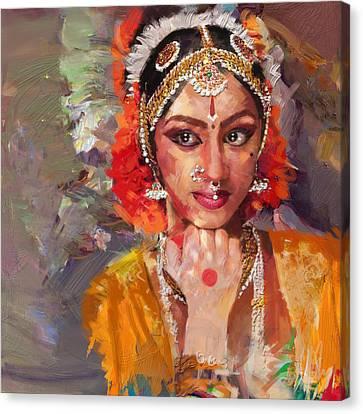 Classical Dance Art 1 Canvas Print by Maryam Mughal