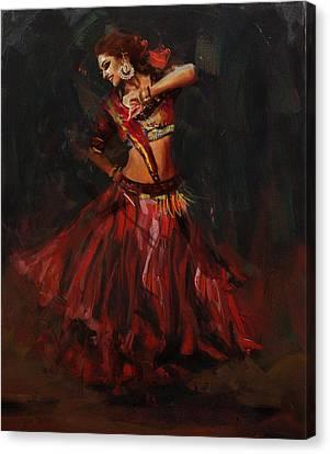 Classical Dance Art 16 Canvas Print by Maryam Mughal