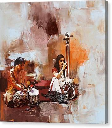 Classical Dance Art 17 Canvas Print by Maryam Mughal