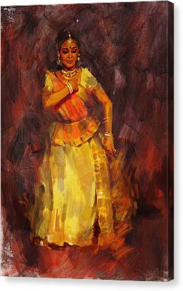 Classical Dance Art 18 Canvas Print by Maryam Mughal