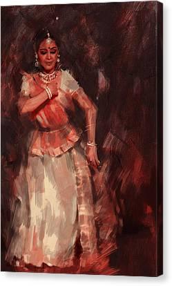 Classical Dance Art 18b Canvas Print by Maryam Mughal
