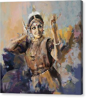 Classical Dance Art 3 Canvas Print by Maryam Mughal