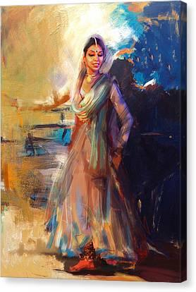 Classical Dance Art 5 Canvas Print by Maryam Mughal