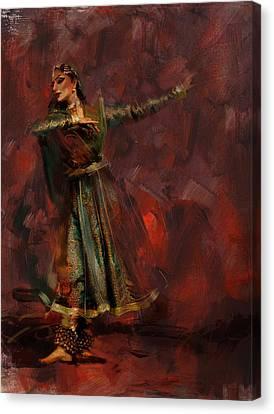 Classical Dance Art 7 Canvas Print by Maryam Mughal