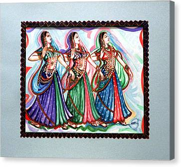 Classical Dance1 Canvas Print by Harsh Malik