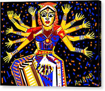 Classical Dancer Canvas Print by Anand Swaroop Manchiraju