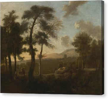 Classical French Landscape Canvas Print by Celestial Images
