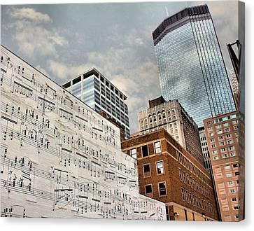 Classical Graffiti Canvas Print by Kristin Elmquist
