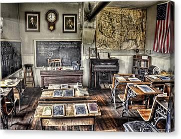 Classroom Recess Canvas Print by Ken Smith