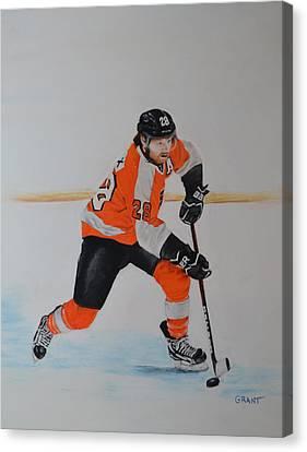 Claude Giroux Philadelphia Flyer Canvas Print by Joanne Grant