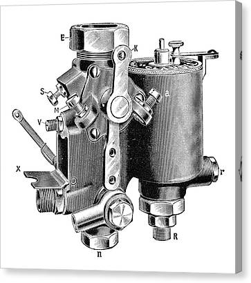 Claudel Carburettor Canvas Print by Science Photo Library