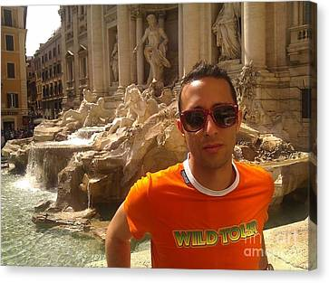 Claudio In Rome Canvas Print by Ted Williams