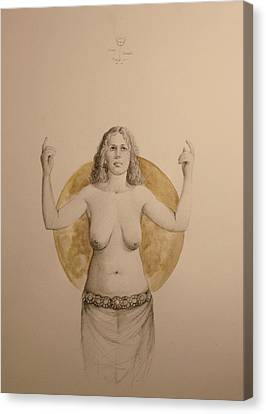 clavicula nox II Canvas Print by Simone Galimberti