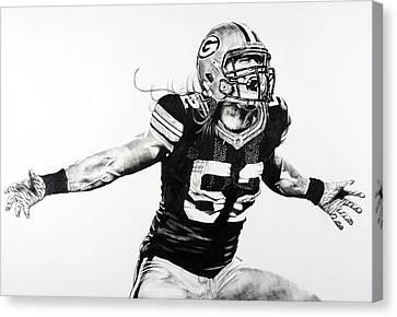 Clay Matthews Canvas Print by Jake Stapleton