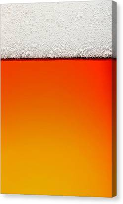 Clean Beer Background Canvas Print by Johan Swanepoel