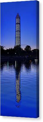 Clear Blue Morning At The Washington Monument Canvas Print by Metro DC Photography