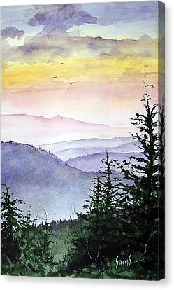 Clear Mountain Morning II Canvas Print by Sam Sidders