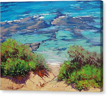Clear Waters Norah Head Canvas Print by Graham Gercken