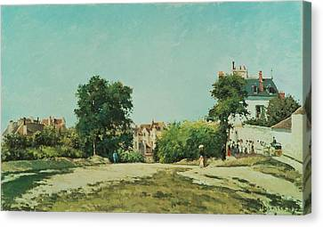 Clearing Of The Old Cemetery In Pontoise Canvas Print by Camille Pissarro