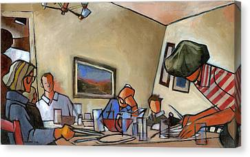 Clearing The Table Canvas Print by Douglas Simonson