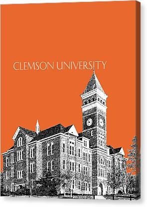 Clemson University - Coral Canvas Print by DB Artist